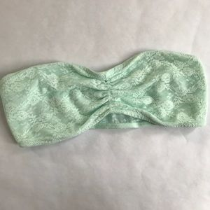 5/$20 VS PINK Bandeau Bra Mint Green Medium